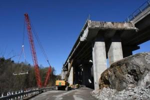 Lavori sull'autostrada To-Sv - Viadotto Mollere a Ceva
