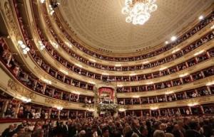 Una veduta interna del Teatro alla Scala di Milano